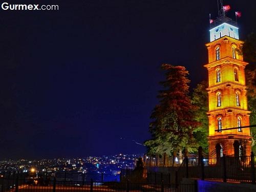 Bursa Merkez Gezilecek Yerler Tophane parkı Bursa saat kulesi