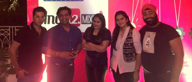 Entire Evening we managed to click just one pic.. And this was it Abhishek, Bhasin, Ashish Tulsian, Pooja Sareen, Gurleen Kaur Tikku, Gurpreet Singh TIkku