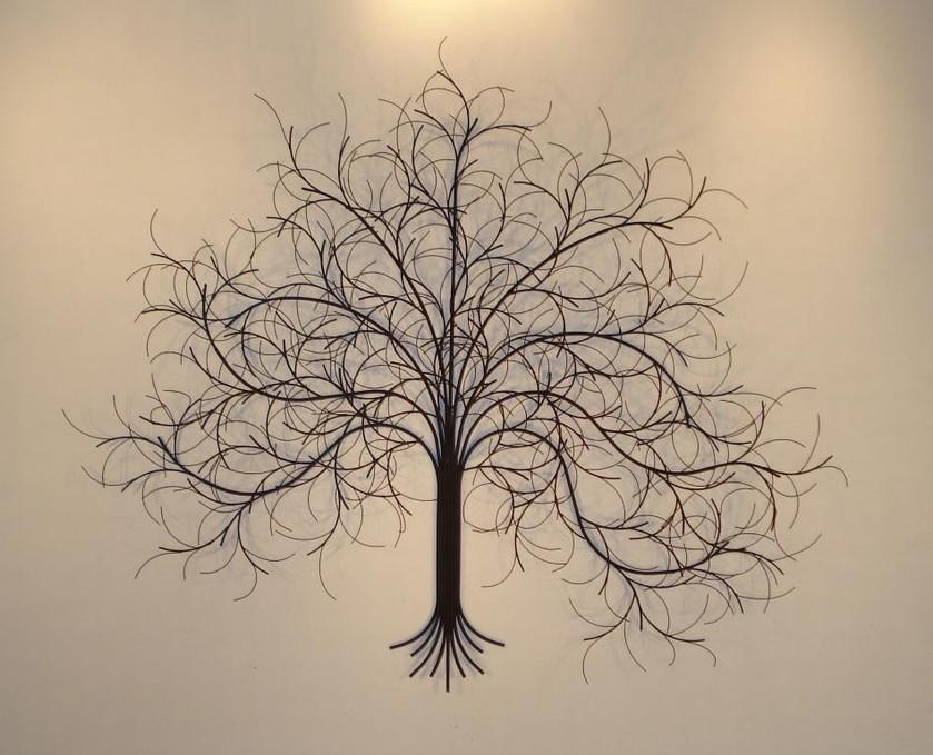 metal wall art metal wall sculpture gurtan: tree scene metal wall art