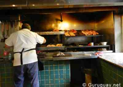 The grill maister at work, midday in La Marañada.