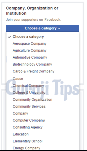 Select Category and fill name