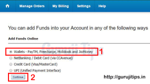 Fund Add in Bigrock via Paytm
