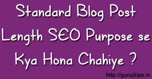 Standard Blog Post Length