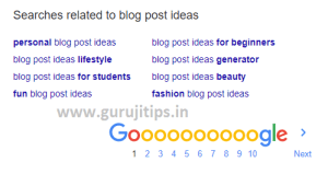 Related Search blog post idea