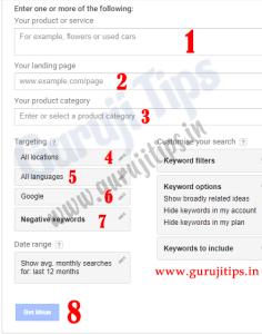 Keyword Planner details