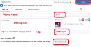 youtube video publish