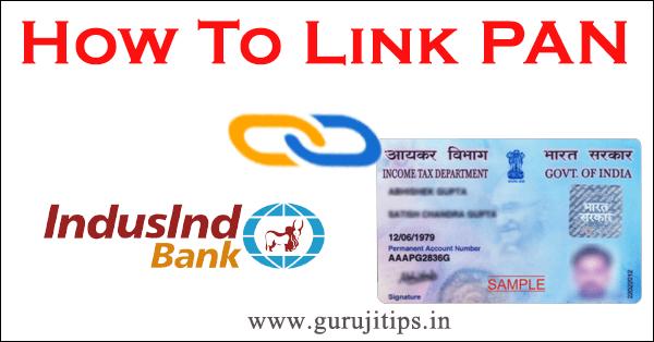 link pan with indusind bank