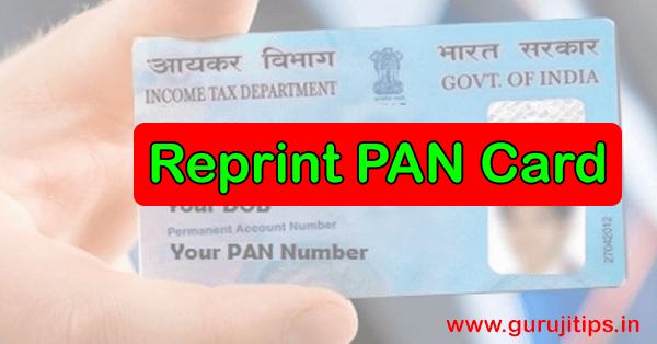 reprint pan card