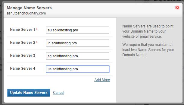 name server update