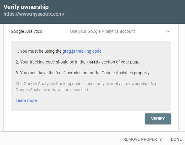 verify ownership analytics