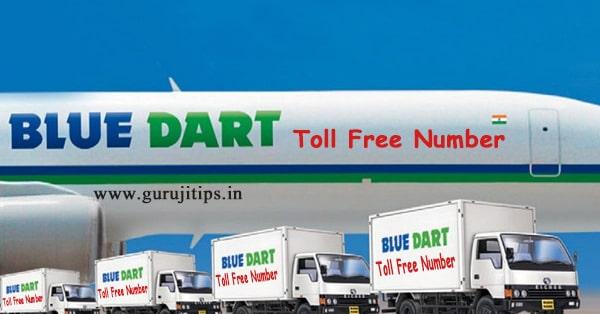 bluedart toll free number