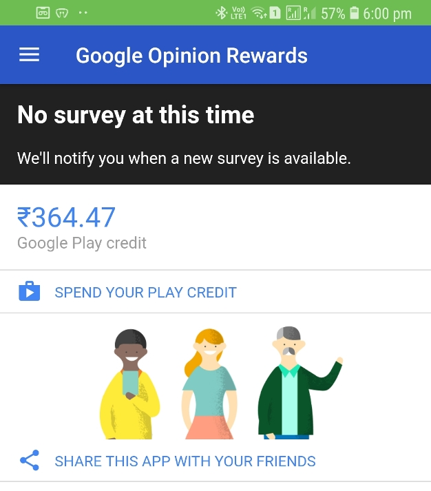 Google Opinion Reward