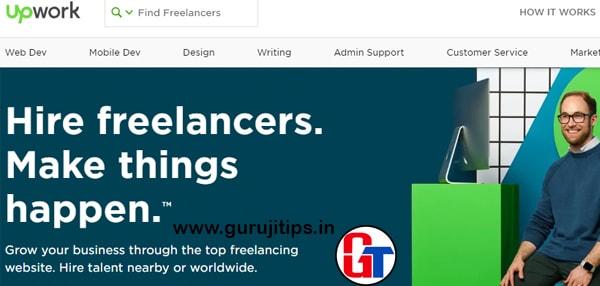 upwork freelancing site