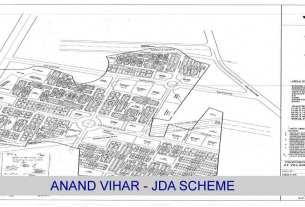 Plot Anand Vihar JDA Scheme, Anand Vihar Jda Map