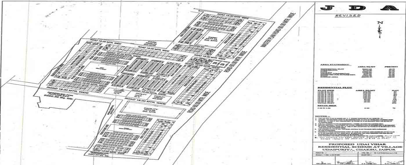 Udai Vihar Jda Map, Udai Vihar Jda Scheme