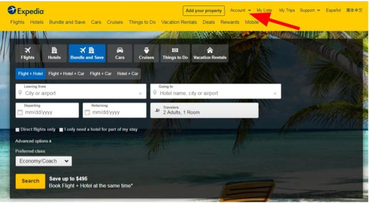 Expedia: How To Delete your Account Step By Step