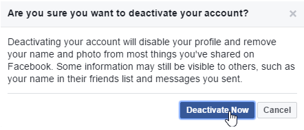 How To Deactivate My Facebook Account Immediately