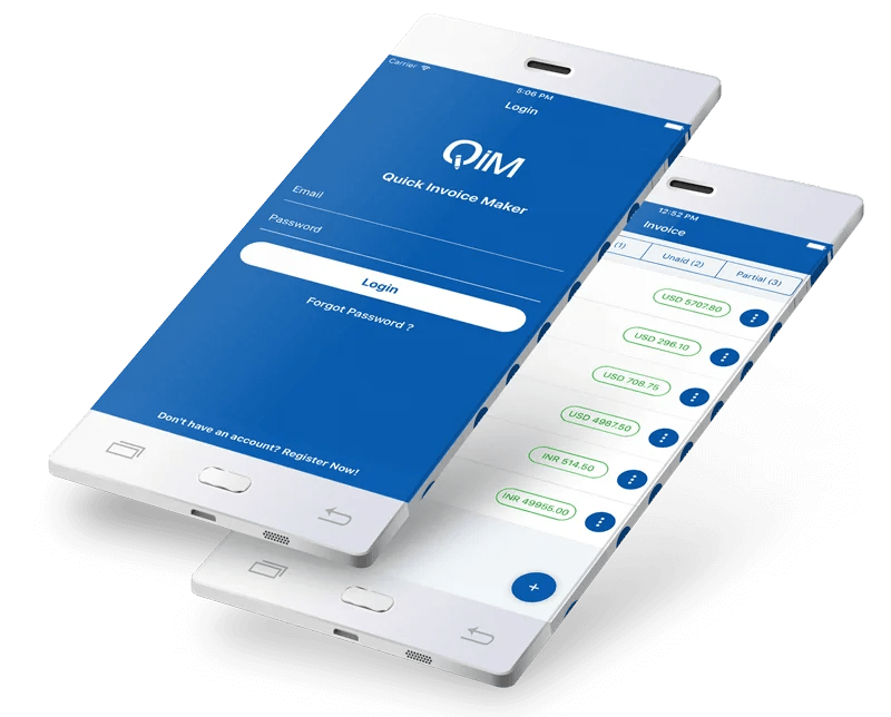 Quick Invoice Maker   Invoicing App   Billing App   Business Invoice App Invoice creator app design