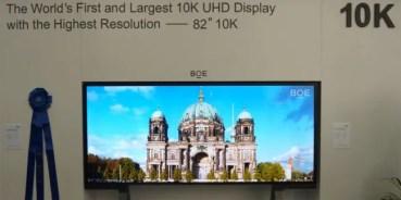 La marca china BOE muestra el primer televisor 10K del mundo