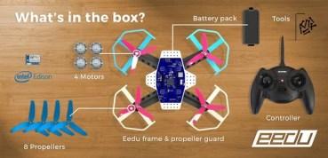 Eedu, el dron que además de volar es una plataforma de aprendizaje