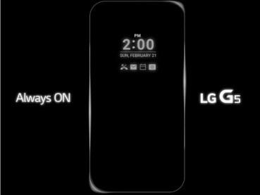 Sorpresa con el LG G5, su pantalla siempre estará activa