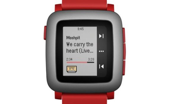 pebble time rojo oferta