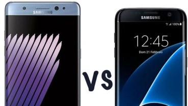 Samsung Galaxy S7 Edge vs Samsung Galaxy Note 7. ¿Qué cambia?