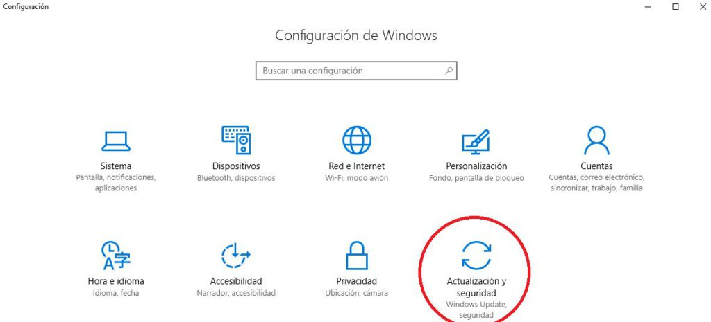 windows 10 configuracion