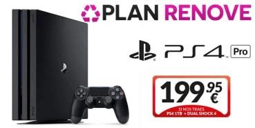 Llévate tu PS4 Pro desde 199,95 € con el Plan Renove de Game