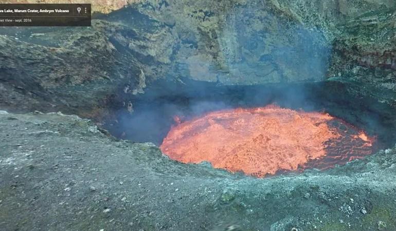Visita el volcán activo Marum con el servicio de Google Street View