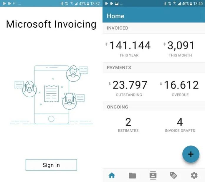 microsoft invoicing aplicaciones gratuitas