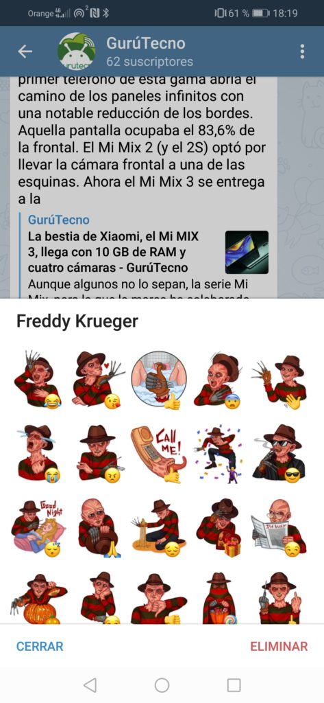 Telegram-stickers-Freddy-Krueger