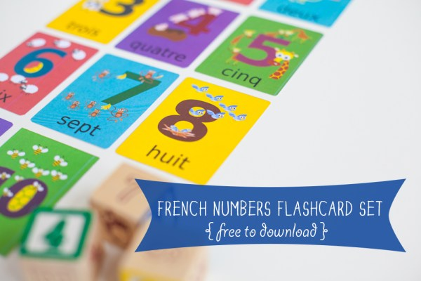 Gus On The Go French Numbers Flashcards