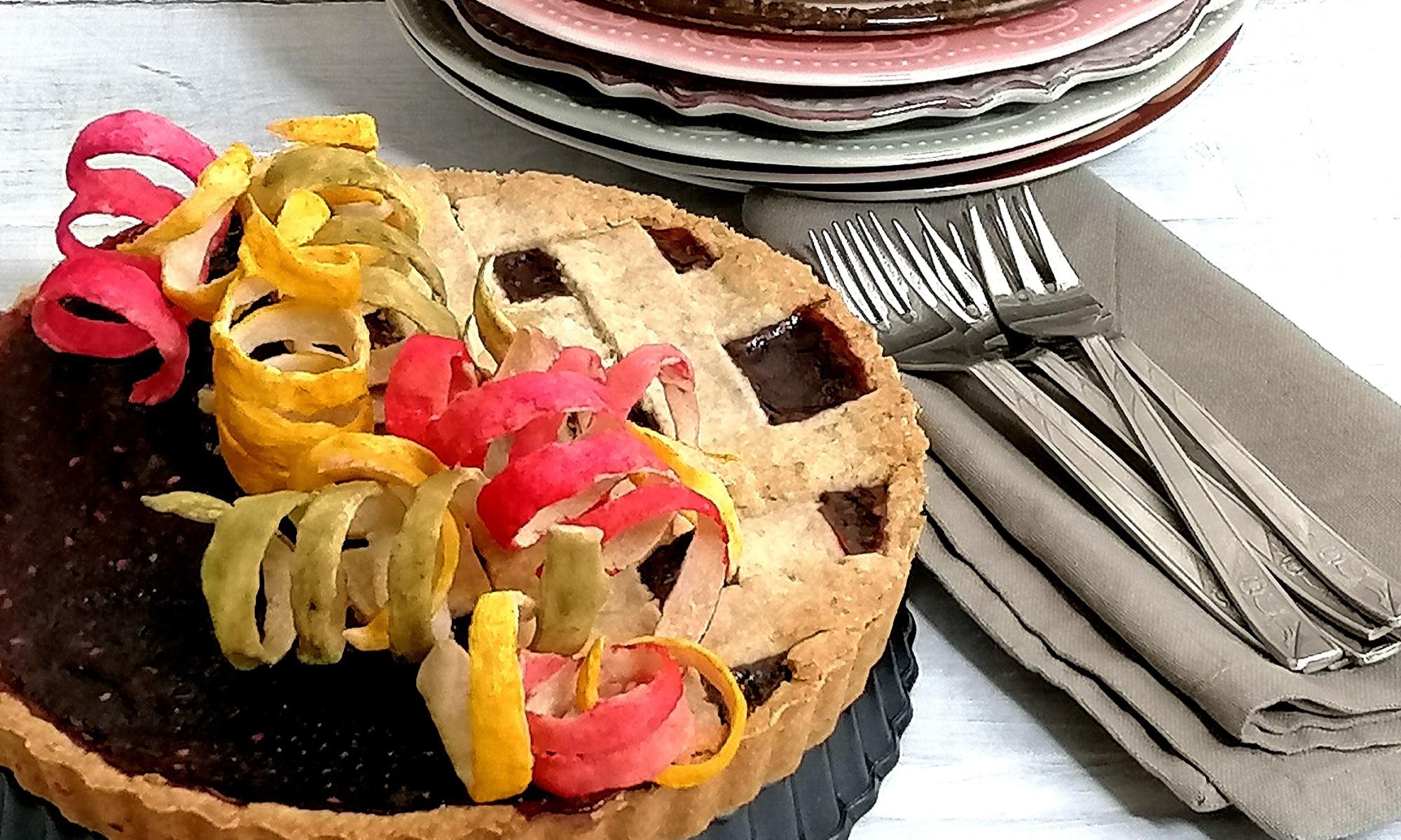 crostata integrale con marmellata di lamponi