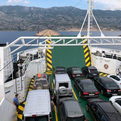 Pag Island ferry, Overlanding Croatia