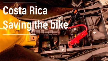 Noco GB40 motorcycle jumpstarter v-Strom 650