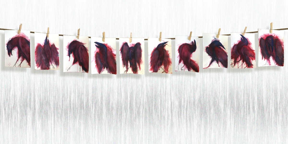 Dibujo: Palabras al Viento (montaje) | por Gustavo Adolfo Díaz G.