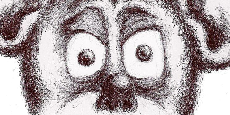 Ilustración: Sr. Mouse. Dibujo para el cartel de la sesión 157 de Dibujo Madrid: Unhappily Ever After, Historias no contadas del Reino Mágico (detalle/banner) | por: Gustavo A. Díaz G.