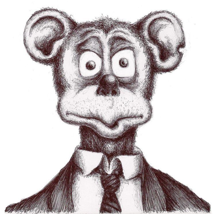 Ilustración: Sr. Mouse. Dibujo para el cartel de la sesión 157 de Dibujo Madrid: Unhappily Ever After, Historias no contadas del Reino Mágico | por: Gustavo A. Díaz G.