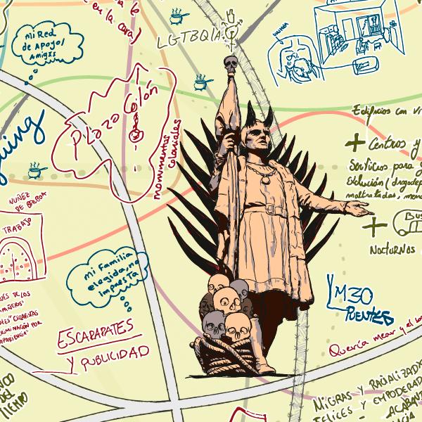 Ilustración basada en el monumento
