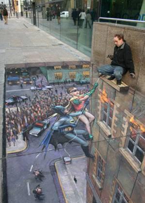 Julian Beever tiza-chalk