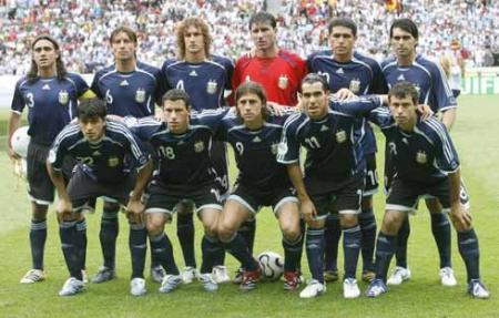 Equipo de la Selección Argentina de fútbol que enfrentó a Alemania - 2006