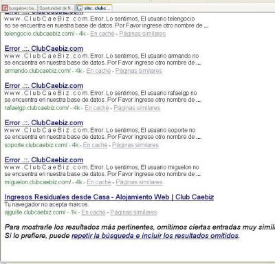 ¡Búsqueda de encadenados en Google