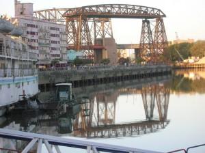Antiguos puentes en el barrio de La Boca