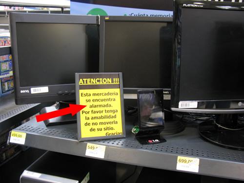 monitores alarmados click para comprobarlo