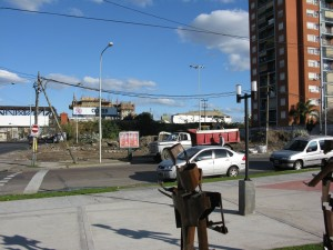 Plaza Ucrania desde Plaza de la Integracion
