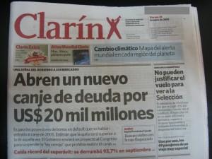 Tapa Clarin 23-10-09