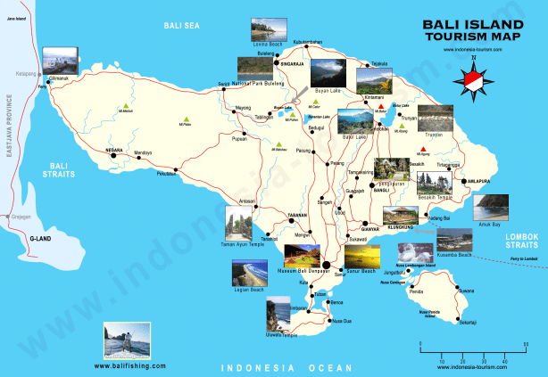 Bali Travel Map