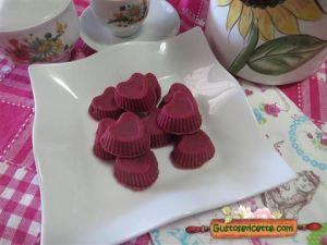 cioccolatini san valentino frutti rossi, con noci cioccolato al latte!
