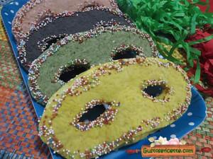 maschere di carnevale dolci, colorate e buone